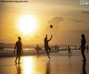 Puzzle Coucher du soleil sur la plage