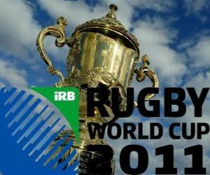 Puzzle Coupe du Monde de Rugby 2011. Elle est célébrée en Nouvelle-Zélande à partir 9 septembre au 23 octobre