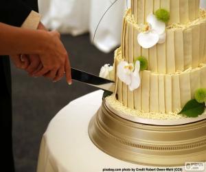 Puzzle Couper le gâteau de mariage