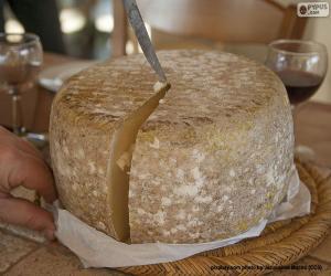 Puzzle Couper un fromage de brebis