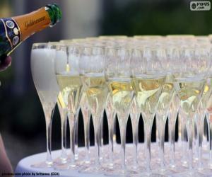 Puzzle Coupes à Champagne