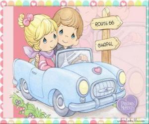 Puzzle Couple en voiture