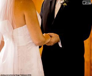 Puzzle Couple lors de leur mariage