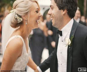 Puzzle Couple nouvellement marié