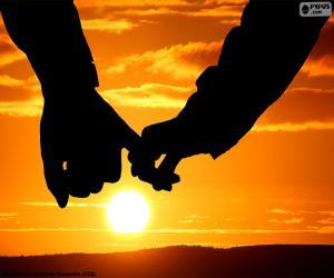 Puzzle Couple pris dans la main