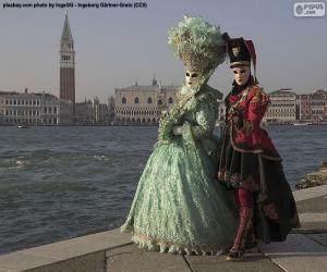 Puzzle Couples de carnaval de Venise