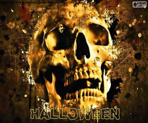 Puzzle Crâne d'Halloween