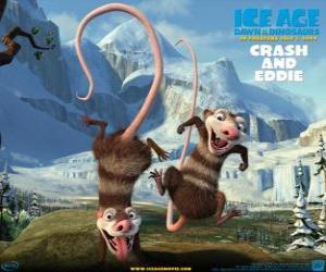 Puzzle Crash et Eddie, deux opossums problématique