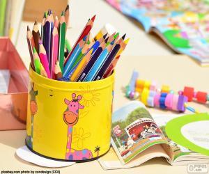 Puzzle Crayons de couleur