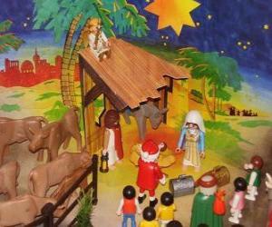 Puzzle Crèche de Noël de Playmobil