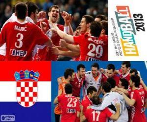 Puzzle Croatie médaille de bronze au Mondial 2013 de handball