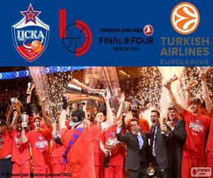 Puzzle CSKA Moscou champion Euroligue 16