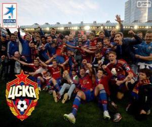 Puzzle CSKA Moscou, Champion League Premier 2013-2014, la Ligue de football russe