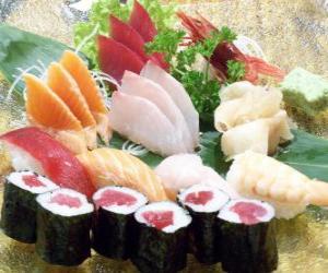 puzzle de cuisine japonaise sushi casse t te imprimer. Black Bedroom Furniture Sets. Home Design Ideas