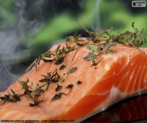 Puzzle Cuisson saumon