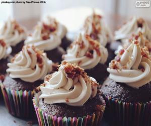 Puzzle Cupcakes avec glaçage