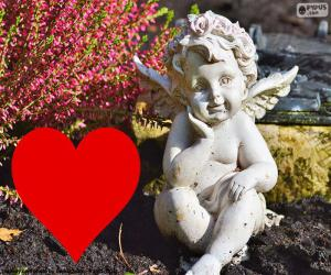 Puzzle Cupidon coeur i rouge