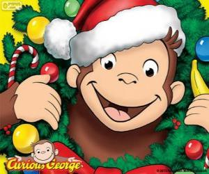 Puzzle Curious George à Noël