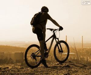Puzzle Cycliste de vélo de montagne