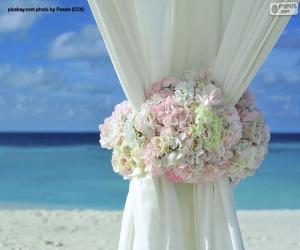 Puzzle Décoration florale rideaux de mariage