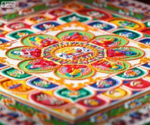 Puzzle Détails du mandala
