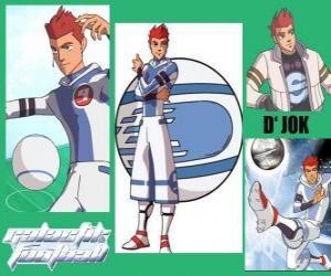 Puzzle D'jok est le joueur étoile de l'équipe Snow Kids, a le numéro 9