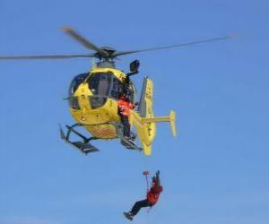 Puzzle d'urgence par hélicoptère