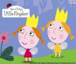 Puzzle Daisy et Poppy, les fées jumelles, les petites sœurs de Holly