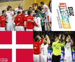 Puzzle Danemark médaille d'argent coupe du monde de handball 2013