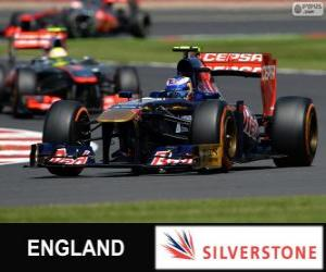 Puzzle Daniel Ricciardo - Toro Rosso - Silverstone, 2013