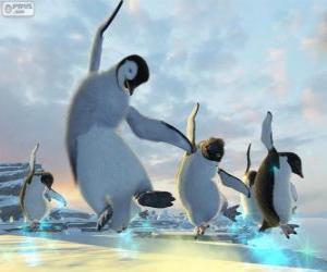 Puzzle Danse des pingouins dans les films de Happy Feet