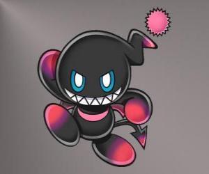 Puzzle Dark Chao est la mascotte du mal de jeux Sonic