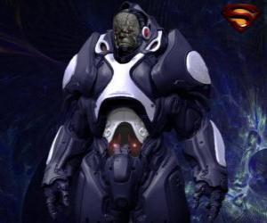 Puzzle Darkseid, le tyran d'un monde lointain d'Apokolips appelés dieux cosmiques.
