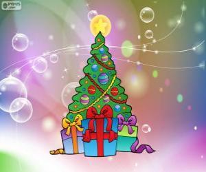 Puzzle Dessin arbre de Noël