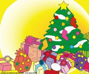 Puzzle Dessin, arbre de Noël