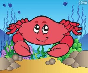 Puzzle Dessin de crabe