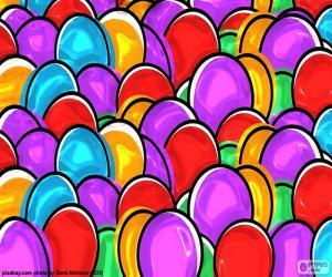 Puzzle Dessin des oeufs de Pâques