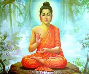 Puzzle Dessin du Gautama Bouddha