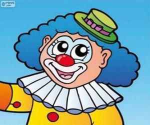 Puzzle Dessin du visage de clown