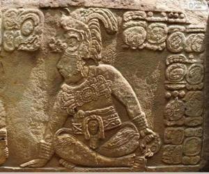 Puzzle Dessins maya sculpté sur une pierre