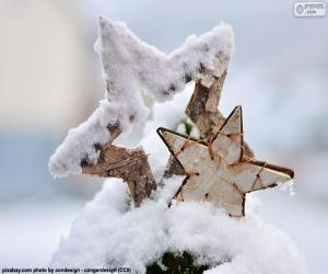 Puzzle Deux étoiles de neige