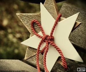 Puzzle Deux étoiles en bois