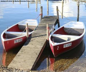 Puzzle Deux bateaux à rames