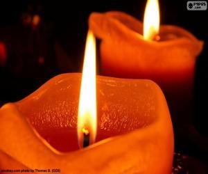 Puzzle Deux bougies de Noël
