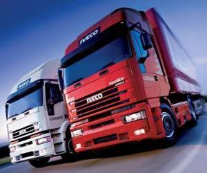 Puzzle Deux camions Iveco