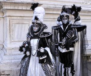 Puzzle Deux costumes élégants