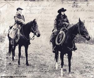 Puzzle Deux femmes cowboy