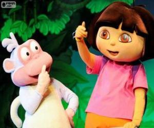 Puzzle Deux grands amis, Dora et Babouche