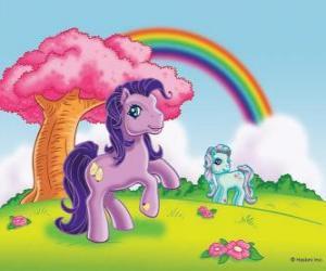 Puzzle Deux poney dans la campagne