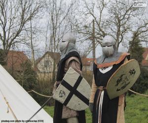 Puzzle Deux soldats du moyen âge